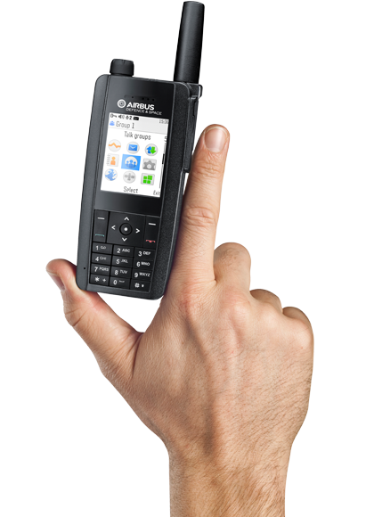 TH1n terminal portatif de poche Tetra - main